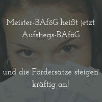 Neuer Name, mehr Geld: Meister-BAföG wird zum Aufstiegs-BAföG