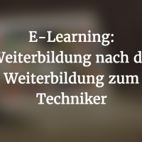 E-Learning für den Techniker